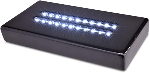 Asente Lights 7 LED Rectangular Brilliant White Light Stand for Glass Art