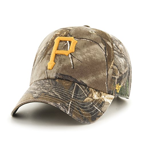 MLB Pittsburgh Pirates '47 Big Buck Clean Up Camo Adjustable Hat, One Size Fits Most, Realtree (Pirates Hats)