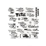 #9: Making a Birthday Wish Sayings Clear Stamps For DIY Scrapbooking Decoration Card Making Supplies(Wish Phrases)