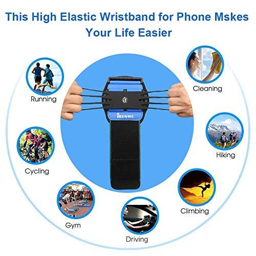 Armband iPhone X/iPhone 8 Plus/ 8/7 Plus/ 6 Plus/ 6, Galaxy S8/ S8 Pl us/ S7 Edge, Note 8 5, Google Pixel, 360° Rotatable Key Holder Phone Sports Armband Phone Holder by iRunme (Image #6)