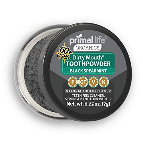 (WOW Activated Charcoal Powder Dirty Mouth Black Spearmint MINI BEST All Natural Charcoal Toothpaste - Gently Polishes, Whitening, ReMineralize and Strengthens (1month Supply))