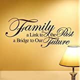 "ufengke® ""Family A Link To The Past A Bridge To Our Future"" Quotes and Sayings Wall Decals, Living Room Bedroom Removable Wall Stickers Murals"