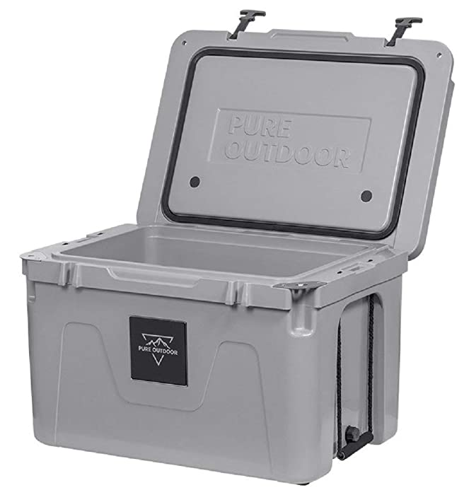 Monoprice Emperor Cooler - 80 Liters - Gray | Securely Sealed, Ideal for The Hottest and Coldest Conditions - Pure Outdoor Collection