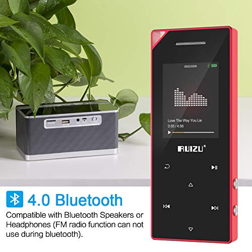 ruizu d05 mp3 player mit bluetooth musik player mit fm. Black Bedroom Furniture Sets. Home Design Ideas
