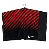 NIKE Face/Club Jacquard Towel (Black (N87511) / Red/Silver, One Size)