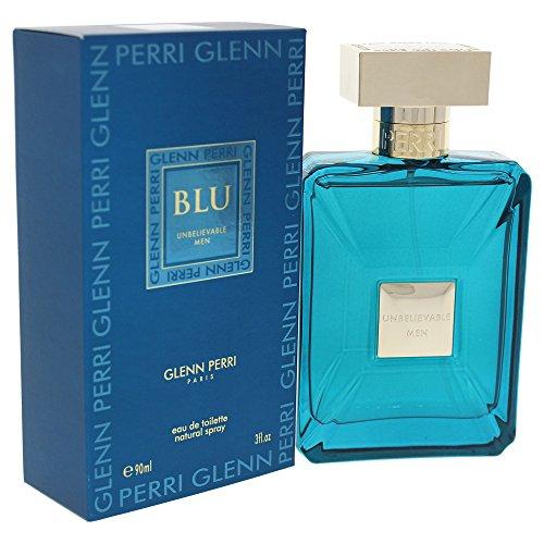 Glenn Perri Unbelievable Blu for Men Eau de Toilette Spray, 3 Ounce