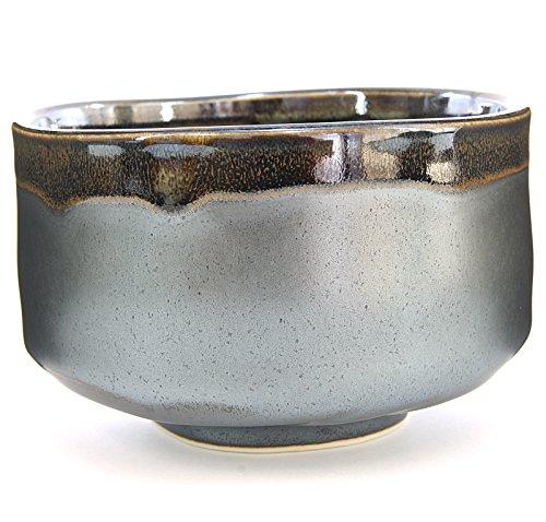 Japanese Handcrafted Matcha Tea Bowl Black, Matcha Tea Cup Ceremony, Authentic Mino Ware Pottery, Kuro Oribe Chawan by Mino Ware (Image #1)