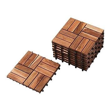 IKEA Platta - plataforma de piso, acacia / 9 Pack - 0,81 mÃ