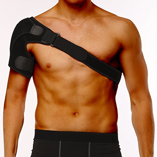 iDeporte Shoulder Brace Support with Adjustable Straps and Pressure Pad - for Men and Women