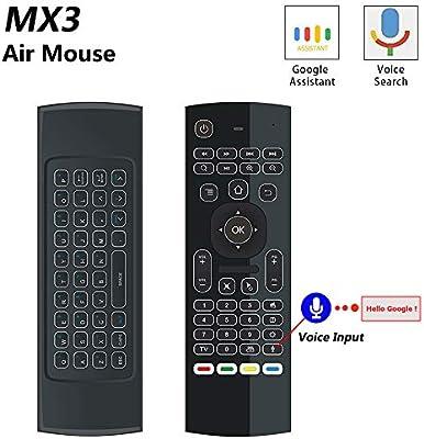 Mini teclado inalámbrico con mando a distancia de 2,4 GHz con control remoto de aprendizaje por infrarrojos para Android TV Box Mini PC Smart TV proyector HTPC computadora portátil todo en uno