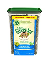 FELINE GREENIES Dental Treats for Cats Tempting Tuna Flavor 1...
