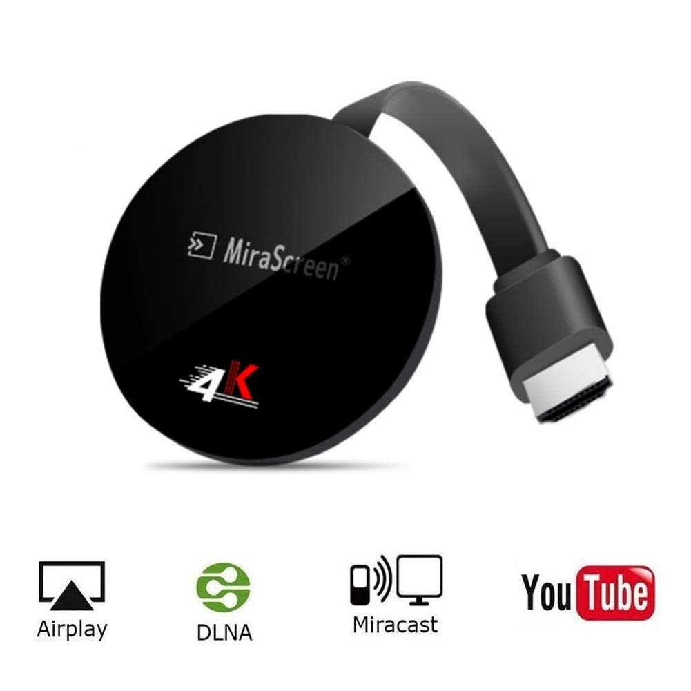 SmartSee Miracast Wireless Display Receiver 1080P HDMI WiFi Media Streamer Adapter Support Chromecast YouTube Netflix Hulu Plus Airplay DLNA TV Stick for Android/Mac/iOS/Windows (2.4G + Google Home) by SmartSee