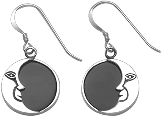 Black Obsidian Crescent Earrings ** 7 Stylish Ear Wire Choices