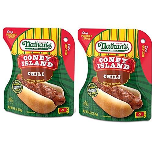 Nathan's Coney Island Chili Hot Dog Topping ( 2 pack ) - Nathans Hot Dog Stand