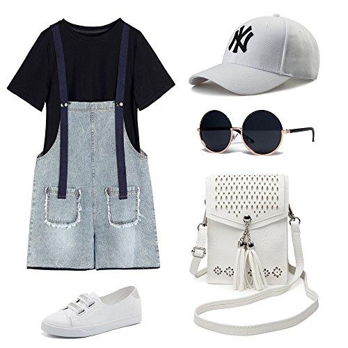 Women Small Crossbody Bag, seOSTO Tassel Cell Phone Purse Wallet Bags (White) … by seOSTO (Image #7)