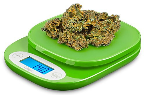 Ozeri ZK420 Garden and Kitchen Scale, with 0.5 g (0.01 oz) Precision Weighing Technology, in Lime Green