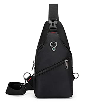 Men Waterproof Oxford Sling Chest Bag Anti Theft Sport Cycling Crossbody Daypack