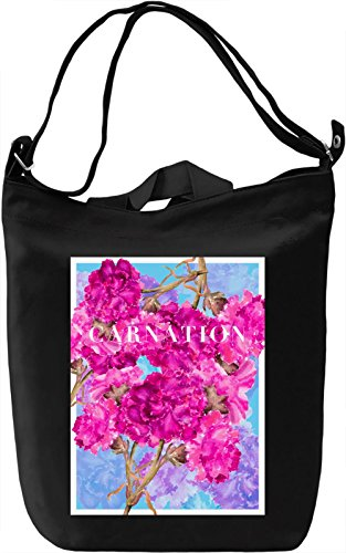 Carnation Borsa Giornaliera Canvas Canvas Day Bag| 100% Premium Cotton Canvas| DTG Printing|