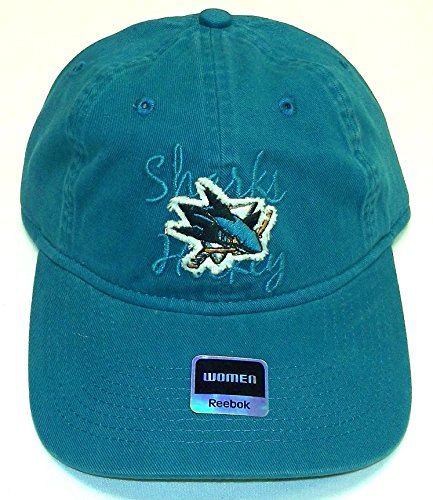 San Jose Sharks Reebok NHL Blue Slouch Womens Distressed Hat Cap OSFA - EM43W
