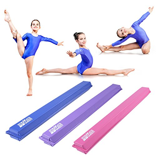 gymmatsdirect Gymnastics Balance Beam, 8 9′ Long Folding Floor Balance Beams Kids Home Practice
