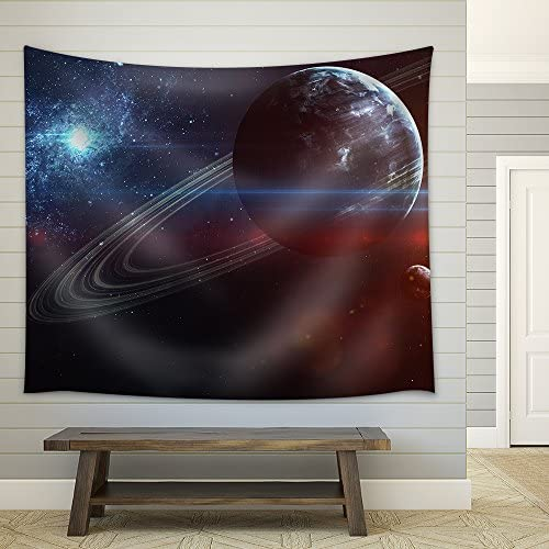 Infinite Space Background with Nebulas and Stars Fabric Wall