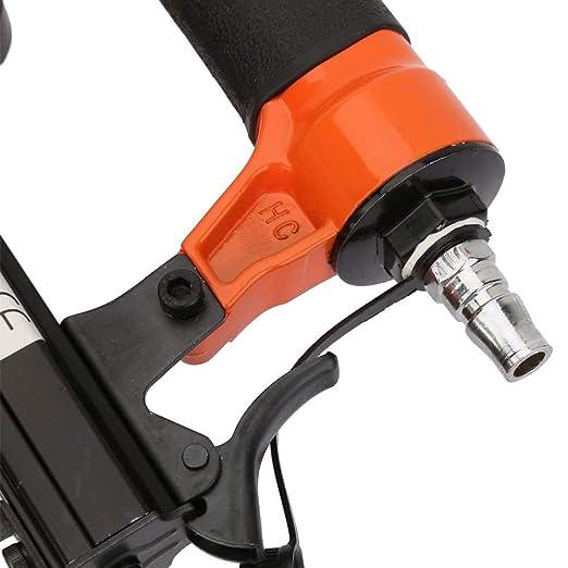 Pistolet /à ongles pneumatique efficace pistolet /à agrafeuse /à cloueuse pneumatique avec poign/ée conviviale pour clou de type U de 21GA 0,95 0,7 mm
