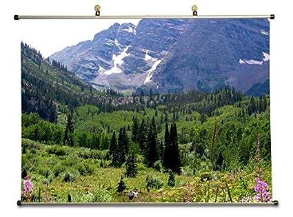 Amazon Com Tollyee Maroon Bells Mountain With Wild Flowers