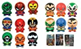 15 Super Hero Small Capsule Figures with 3 3D Stickers – SuperHero Party Favor Bundle, Health Care Stuffs
