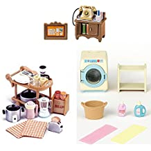 3 Different Sets - Kitchen Appliances, Telephone and Washing Machine Sets (Japan Import)