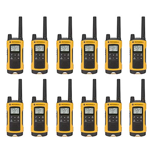Talkabout T402 Rechargeable Two-Way Radios Yellow Walkie Ta