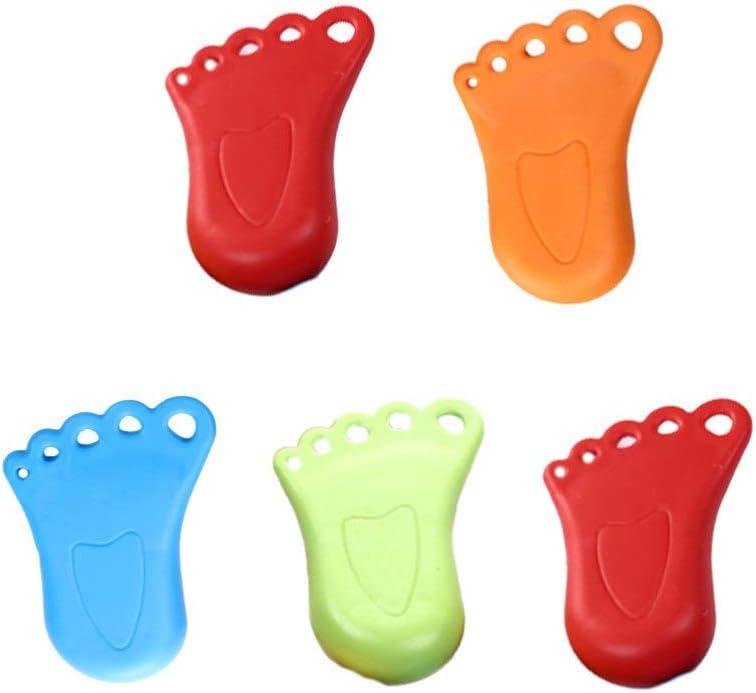 BESPORTBLE Fermaporta Plastica Fermaporta Cuneo Fermaporta di Sicurezza Porta Fermaporta Funziona su Tutti I Tipi di Pavimento per Bambini Piccoli 5 Pezzi Colore Casuale