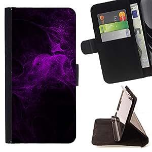 BullDog Case - FOR/LG G3 / - / purple light spider web night bug nature /- Monedero de cuero de la PU Llevar cubierta de la caja con el ID Credit Card Slots Flip funda de cuer