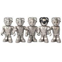 Doctor Who Character Building Micro Figure Cyberman Collector Set (includes 3 Cybermen, Cyberleader & Pandorica Guard LEGO-compatible Mini-figures)