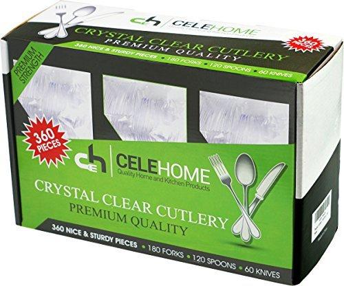 Celehome Kitchen Plastic Cutlery Set – 360 Pieces - Piece Set 360
