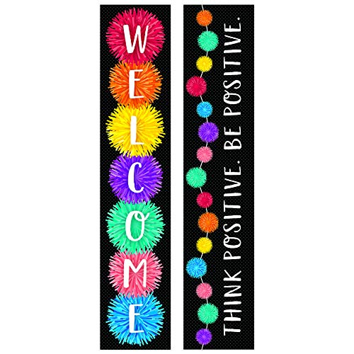 Creative Teaching Press Pom-Poms Welcome Banner (2-sided), CTP 8670