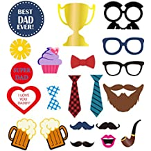 BESTOYARD Photo Booth Props for Father's Day Bithday Party Decoration 21pcs