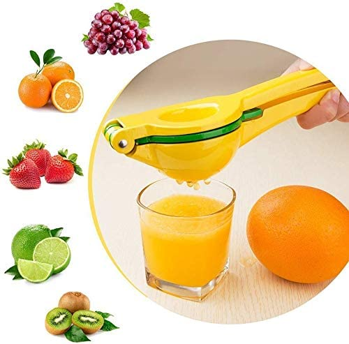 LHZTZKA Exprimidor de limón y Lima, Exprimidor Manual de Limones Multifuncional con Clip de Metal exprimidor de Frutas 2 en 1 Cuchara Manual de aleación de Aluminio