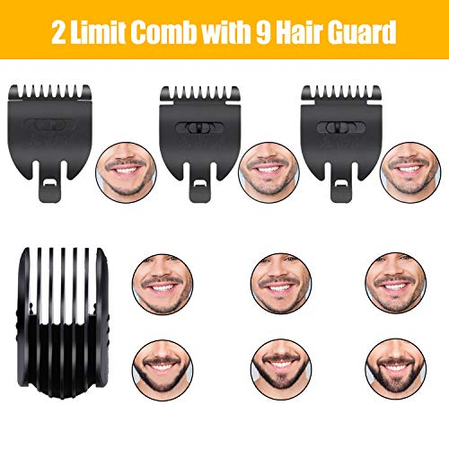 Easy4U Hair Clippers For Men Professional, Cordless Men's Beard Trimmer Grooming Kit, Multigroom All-In-One Detail Trimmer for Nose Ear Facial Hair