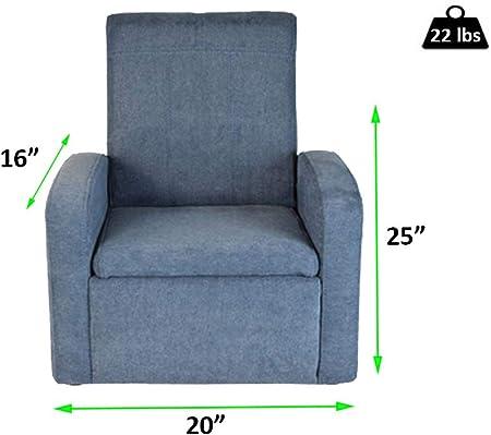 STASH Comfy Folding Kids Toddler Plush Sofa Lounge Chair