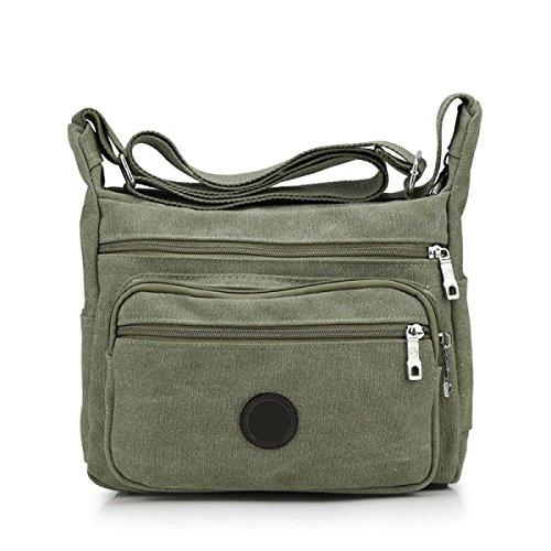 Männer Und Frauen Vintage-Leinwand Messenger Ipad Schulter Tote Sling Multifunktions Tasche,D-OneSize
