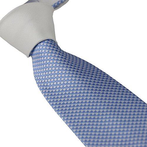 Coachella Ties Solid Color Knot Contrast Polka Dot Necktie Formal Tie 8.5cm (White/light - Coachella Mens Fashion