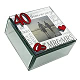 Oaktree Gifts Mirror 3D Words 40th Anniversary Trinket Box