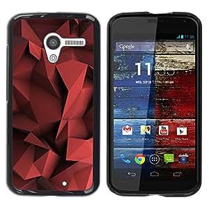 Paccase / SLIM PC / Aliminium Casa Carcasa Funda Case Cover para - Blood Red Pastel Pattern Shape - Motorola Moto X 1 1st GEN I XT1058 XT1053 XT1052 XT1056 XT1060 XT1055