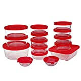 [15 Pieces] Glass Meal Prep Containers,Glass Food Round Storage Containers with Lids,Glass Lunch Containers Ideal for Mixing