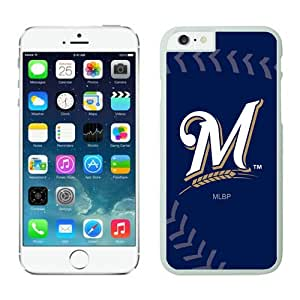 Iphone 6 Protective Skin Case,Milwaukee Brewers TPU iPhone 6 4.7 inch Cover Cases 3 White