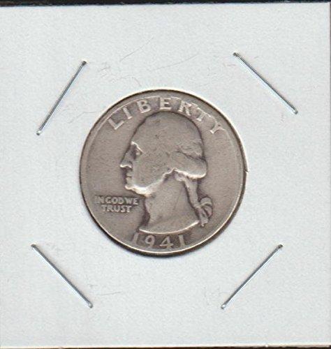 1941 D Washington (1932 to Date) Quarter Very Good (1941 Liberty Quarter)