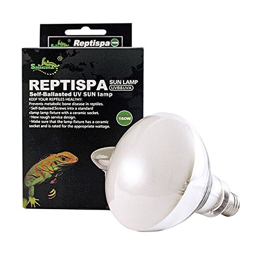 Lamps And Uvb Uva - Reptispa UV Sun Lamp 160 Watts - UVB & UVA Self-Ballasted Lamp
