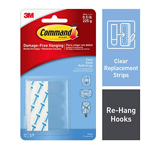 Command Replacement Decorating Strips, Easy On, Easy Off, 12 Strips