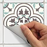 SnazzyDecal Tile Stickers Portugese 40pc 4-1/4in Peel and Stick for kitchen and bath M300-4Q