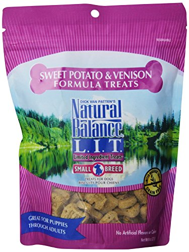 Natural Balance L.I.T. Sweet Potato and Venison Formula Dog Treats, Small Breed, 16-Ounce (2 Packs 8-Ounce each) (Best Price On Natural Balance Dog Food)
